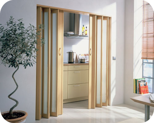 Halo Doors in Beech Color & Panelfold® - folding doors acoustical folding partitions operable ...