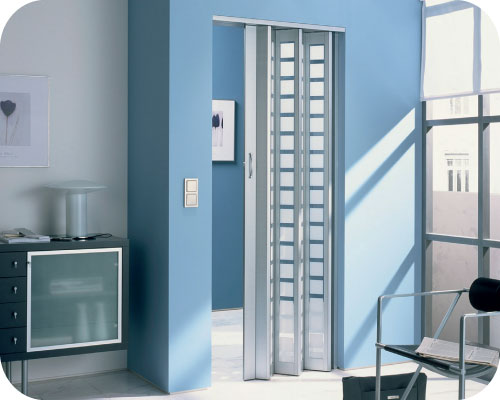 Visio Doors in Aluminum Color