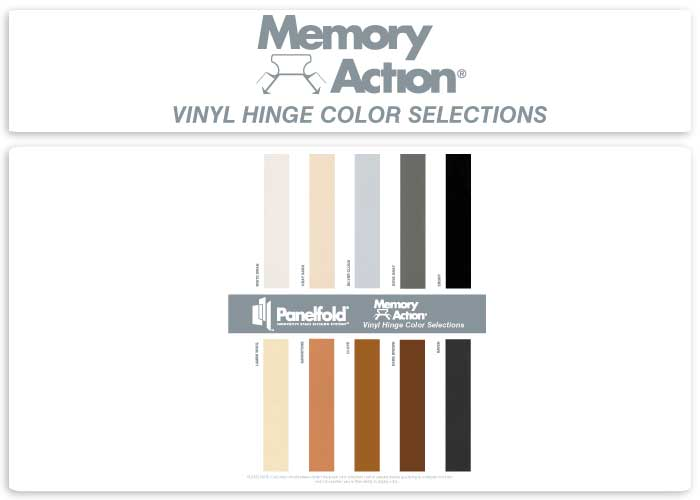 Memory Action Vinyl Hinge Color Selections