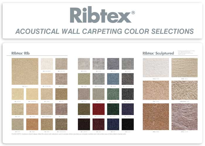 Ribtex Vertical Rib Wall Carpeting Color Selections