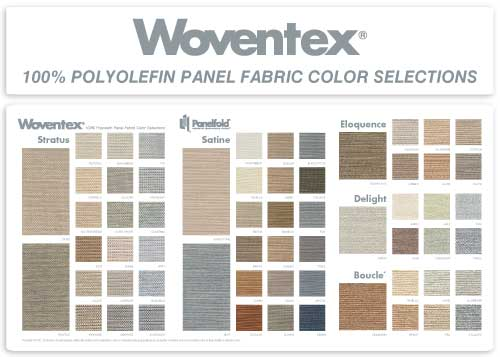 Woventex Panel Fabric Color Selections